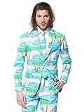 OppoSuits Karnevalskostüme Herren festlichem Druck Anzug mit Krawatte, Mehrfarbig, 54