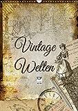 Vintage Welten (Wandkalender 2019 DIN A3 hoch): Dekorative Collagen im original französischen Vintage-Chic (Monatskalender, 14 Seiten ) (CALVENDO Kunst)