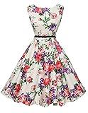 mode rockabilly kleid 1950s vintage retro sommerkleid festliches kleid partykleider Größe XS CL6086-21