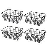 Tosbess 4er-Set Aufbewahrungskorb Drahtkorb aus Metall für Küche, Bad Oder Vorratskammer