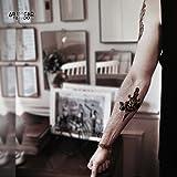 Temporäre Tätowierung / Temporary Tattoo 'Old School Spider Woman & Dagger' - ArtWear Tattoo Beauty – B9987 M