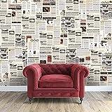 WALPLUS 147x 118.8cm Wand Aufkleber Vintage Zeitung Collage 1Pack Abnehmbarer Wandbild Kunst Abziehbilder Vinyl Home Dekoration DIY Living Schlafzimmer Dekor Tapete, Mehrfarbig