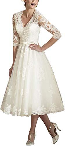 Brautkleider Spitzen A-Linie...