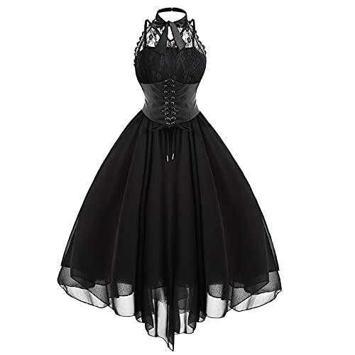 Kleider Damen Gothic Stil Sexy Kleid...