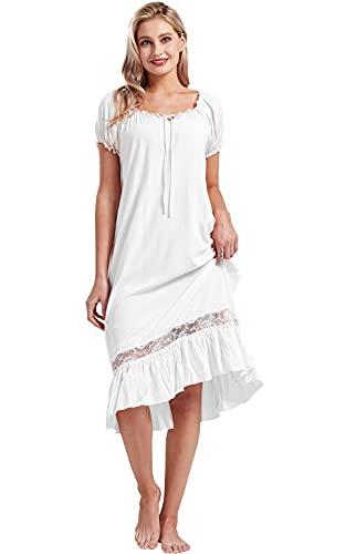 Nanxson Damen Nachthemd Kurzarm...