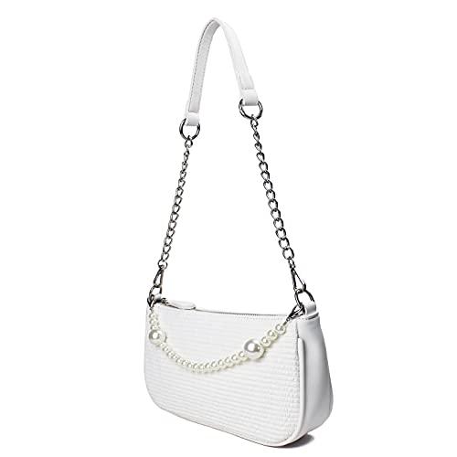 CAMILIFE Weiße Schulter Handtasche Mini...