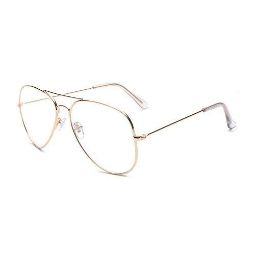 ALWAYSUV klassische Brille Metallgestell...