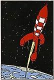 MXLF Leinwand-Malerei Comics Die Abenteuer von Tim und Struppi Malerei Vintage Posters Klassische Wandaufkleber Wand Kunst for Kindergarten Kinder Schlafzimmer Gemälde