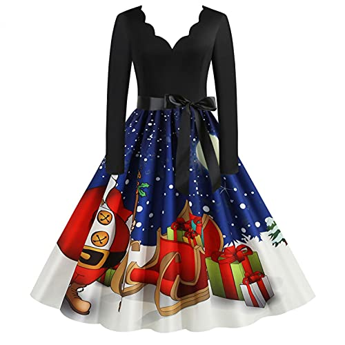 Weihnachten Kleid Damen Elegant...