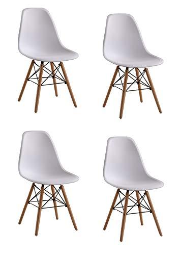 Naturelifestore 4 x Designer Kunststoff...