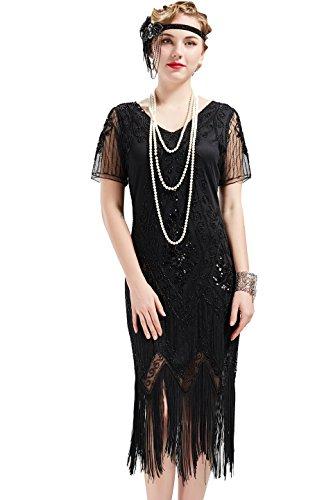 BABEYOND 1920s Kleid Damen Flapper Kleid...