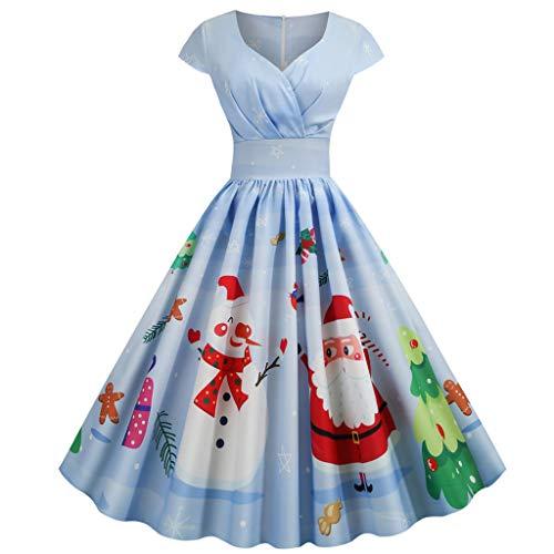 PPangUDing Weihnachtenkleid Damen 1950er...