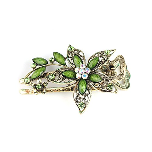 Vintage Damen Blume Kristall Haarspangen...