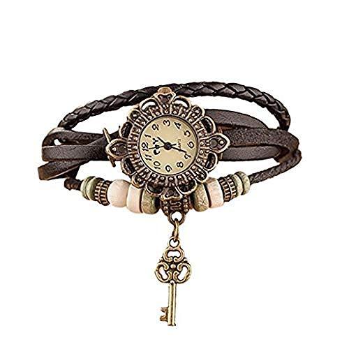CHEMOXING Ledergewebe Wickelarmband Uhr...