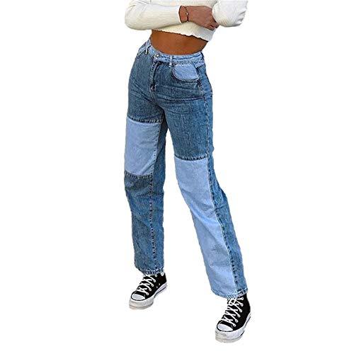 L&ieserram Damen Patchwork Jeans High...