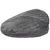 mintgreen Baby Fischgrätenmuster Flache Kappe Vintage Hut, Dunkelgrau, 3-6 Monate (Herstellergröße : 44)