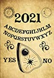 2021: Witch Planner and Calendar, Weekly + Monthly Datebook + Grimoire/ Spell Paper, Goals, Contacts, Passwords, Vintage Occult and Witchcraft ... for Modern Witches (Spirit Board Planner)