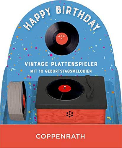 Vintage-Plattenspieler - Happy Birthday:...