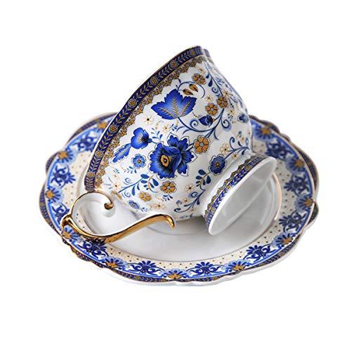 fanquare Blau Blume Fine Bone China...