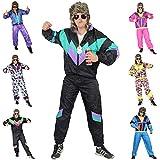 Foxxeo Premium 80er Jahre Kostüm für Erwachsene Trainingsanzug Assianzug Assi Gr. S - XXXL Größe L