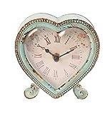Sass & Belle Herzförmige Tischuhr in elegantem und schäbigem Design Rosa