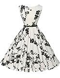 blumenkleid damen vintage abendkleider ballkleider knielang 1950er rockabilly kleid Gre 2XL CL6086-11