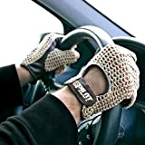 Autofahrer Handschuhe Auto Fahrerhandschuhe Retro Vintage Lammleder Leder Braun Gr. L