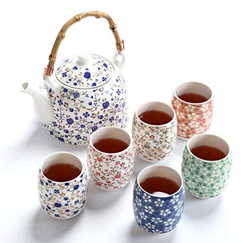 fanquare Blume Porzellan Tee Set mit...