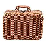Gaoominy Reise Picknick Korb Hand Gemachte Wicker Aufbewahrungs Koffer Vintage Koffer Requisiten Box Weben Bambus Boxen Au?en Rattan Organizer