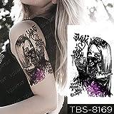 Handaxian 3PCS-wasserdichter Tattoo-Aufkleber Stift Indian Tribal Girl Coole Tätowierung Old School Body Art Arm Tattoo Frauen Männer-02-TBS8169