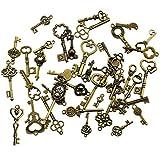 40 Stücke Antike Bronze Vintage Skeleton Keys Charms DIY Kits für Handgemachte Accessoires Halskette Anhänger Schmuck Machen