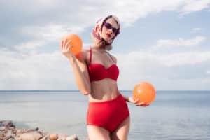 Vintage Bademode - schicke Badeanzüge und Bikinis