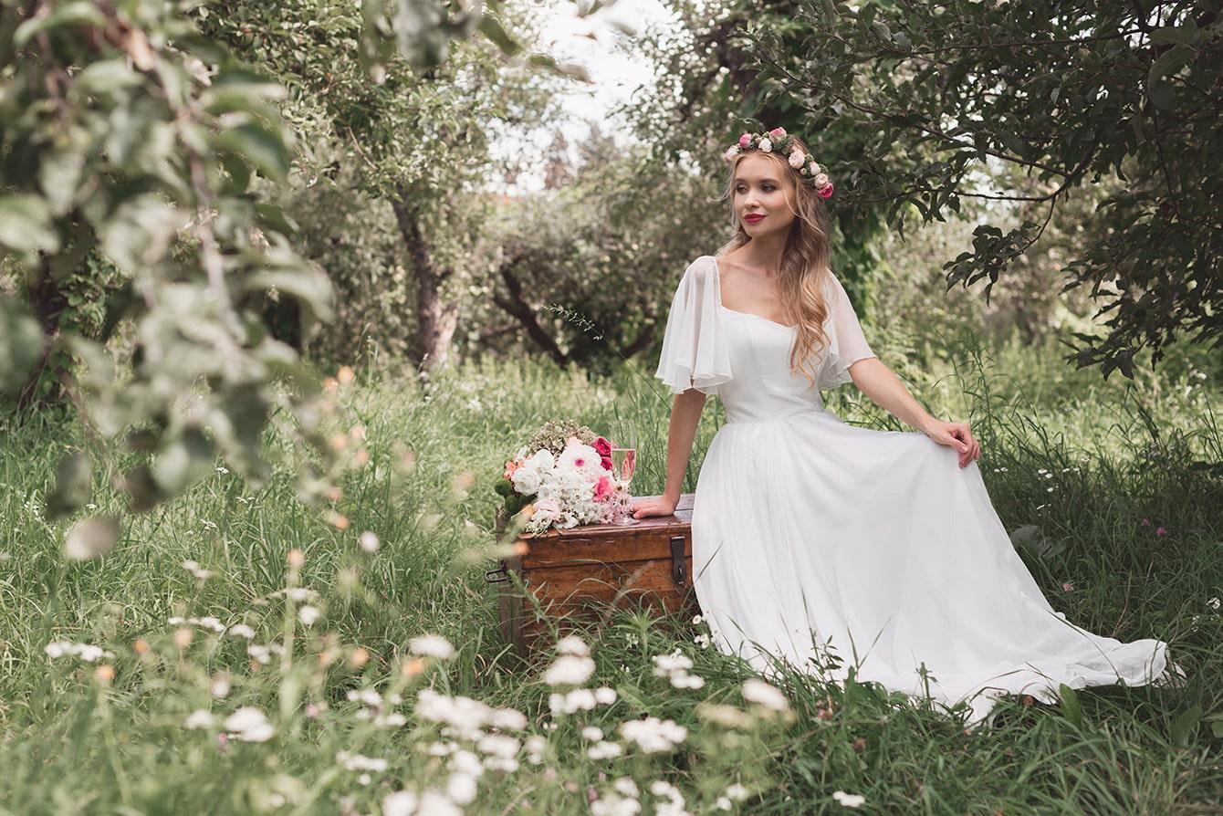 01b3fdc0275ed3 Vintage Brautkleid günstig kaufen auf Kleidermarkt-Vintage.de